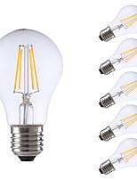 E26/E27 Ampoules à Filament LED A60(A19) 4 COB 550/400 lm Blanc Chaud Blanc Froid 6500/2700 K Intensité Réglable AC 100-240 V