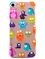 preiswerte -Hülle Für Apple iPhone X iPhone 8 Plus iPhone 5 Hülle iPhone 6 iPhone 7 Transparent Muster Rückseite Cartoon Design Weich TPU für iPhone