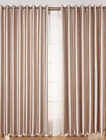 Недорогие -Нанизать стержень занавески Люверс занавески Вешалка занавески Морщиться 2 шторы Окно Лечение Modern Однотонный Гостиная Полиэстер