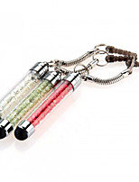 szkinston 3-em-1 mini-caneta cristal touch screen caneta anti-poeira pena plugue capacitância para iPhone / iPod / iPad / Samsung e outros