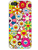 baratos -Capinha Para Apple iPhone X iPhone 8 iPhone 8 Plus Capinha iPhone 5 iPhone 6 iPhone 7 Estampada Capa traseira Flor Macia TPU para iPhone