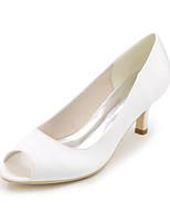 Da donna scarpe da sposa Decolleté Primavera Estate Raso Matrimonio Serata e festa A stiletto Viola Rosso Blu Champagne Avorio 5 - 7 cm