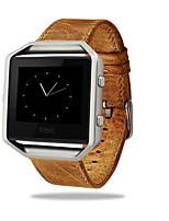 Недорогие -роскошный натуральная кожа пряжки спортивные часы группа ремешок металлический каркас для Fitbit полыхают смарт-часы