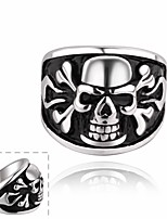 Men Personality Stainless Steel Skull Ring Halloween Gifts