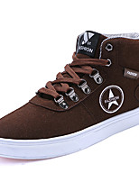 Men's Shoes Suede Fall Winter Comfort Sneakers Lace-up For Casual Outdoor Blue Coffee Black
