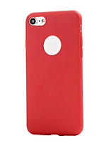 cheap -Case For Apple iPhone 5 Case iPhone 6 iPhone 7 Frosted Back Cover Solid Color Soft TPU for iPhone 7 Plus iPhone 7 iPhone 6s Plus iPhone