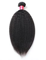 8A Brazilian Virgin Hair Kinky Straight 1 Bundles 100% Human Hair Brazillian Yaki Straight Hair Brazilian Virgin Hair Coarse Yaki