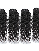 cheap -Unprocessed Peruvian Natural Color Hair Weaves water wave Hair Extensions 4PCS Black