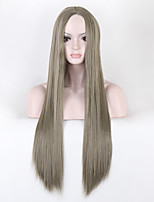 cheap -Green Color Synthetic Wigs Ladies Women Party Straight Hair Wig Daily Wearing