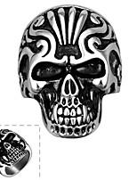 Men Punk Skull Shape Fashion Wind Restoring Ancient Ways of Titanium Steel Ring Halloween Gifts
