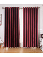 cheap -Rod Pocket Grommet Top Tab Top Double Pleat Two Panels Curtain Modern Solid Living Room Polyester Material Curtains Drapes Home Decoration
