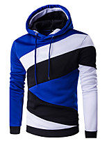 cheap -Men's Sports Going out Active Hoodie Color Block Hooded Micro-elastic Cotton Long Sleeve All Seasons