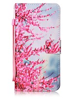For iPhone 7 Plus 6 Plus 6S SE 5S 5 5C Cherry Blossoms Pattern PU Leather Full Body Case with Stand and Card Slot