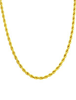 Copper 24K Gold Rope Chain Necklace Gold Necklace For Man Women 2MM Width 24