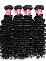 cheap -Unprocessed Peruvian Natural Color Hair Weaves Deep Wave Hair Extensions 4PCS Black