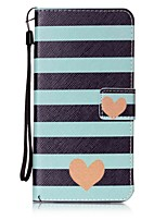 For Pung / Kortholder / Med stativ / Flip Etui Bagcover Etui Hjerte Hårdt Kunstlæder for AppleiPhone 7 Plus / iPhone 7 / iPhone 6s Plus/6