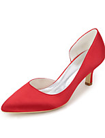 Women's Wedding Shoes Basic Pump Spring Summer Satin Wedding Party & Evening Stiletto Heel Ivory Champagne Blue Red Purple 2in-2 3/4in