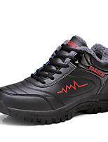 Men's Sneaker Comfort Fall Winter PU Casual Outdoor Flat Heel Royal Blue Black/Red Black/White Flat