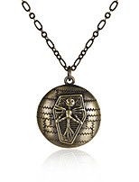 Men's Women's Pendant Necklaces Oval Jewelry Copper Vintage Gothic Jewelry For Halloween Christmas