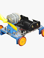Crab Kingdom Model Assembled DIY Technology to Produce Handmade Yellow Wheel Wind Car on The 7th Material Package