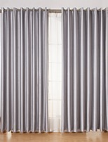 cheap -Two Panels Curtain Modern , Solid Living Room Polyester Material Curtains Drapes Home Decoration For Window