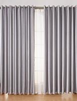 Недорогие -2 шторы Окно Лечение Современность , Твердый Гостиная Полиэстер материал Шторы портьеры Украшение дома For Окно