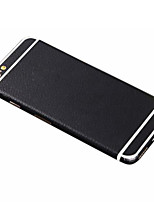 Full-length Solid Black PU Leather Body Sticker for iPhone 6