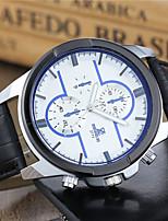 cheap -Men's Sport Watch Fashion Watch Dress Watch Quartz Cool PU Band Analog Casual Black / Brown - Black Black / White White / Brown