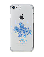 abordables -Coque Pour Apple iPhone 7 / iPhone 6 / Coque iPhone 5 Transparente / Motif Coque Noël Flexible TPU pour iPhone 7 Plus / iPhone 7 / iPhone 6s Plus