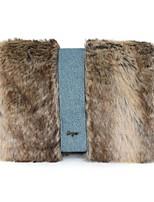 Donna Sacchetti Autunno Inverno Pelliccia Tote Con Piume / in pelliccia per Casual Marrone