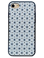 baratos -Capinha Para Apple iPhone 7 iPhone 7 Plus iPhone 6 Antichoque Estampada Capa Traseira Estampa Geométrica Rígida Silicone para iPhone 7