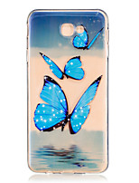 cheap -For Samsung Galaxy J7 Prime J5 Prime J710 J510 J5  J310 J3  TPU Material Blue Butterfly Pattern Painting Phone Case
