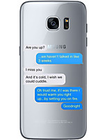 cheap -For Samsung Galaxy S6 Edge Plus S6 S7 Edge S7 Wonderful chat Soft Material For Compatibility TPU