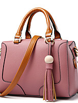 Women Bags All Seasons PU Tote Rivet for Formal Office & Career Red Blushing Pink Gray Purple Wine