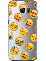 cheap -For Samsung Galaxy S6 Edge Plus S6 S7 Edge S7 Cartoon face Soft Material For Compatibility TPU