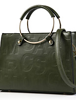 Women Bags All Seasons PU Tote Rivet for Formal Office & Career Black Red Gray Purple Army Green