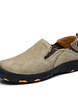 Для мужчин обувь Свиная кожа Весна Осень Удобная обувь Мокасины и Свитер С На эластичной ленте Назначение Повседневные Серый Красный Хаки