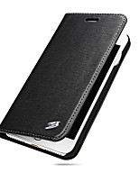 Для Кошелек Бумажник для карт Кейс для Чехол Кейс для Один цвет Твердый Натуральная кожа для AppleiPhone 7 Plus iPhone 7 iPhone 6s Plus/6