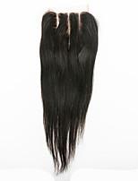 очень модные 100% человеческие волосы virgin волосы прямые 4x4 верхние кружева закрытия