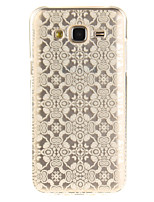 cheap -For Samsung Galaxy J5 J5(2016) J3 J3(2016) G530 Case Cover White Lace Flower Pattern IMD Process Painted TPU Material Phone Case