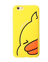 cheap -3D Yellow duck Silicone Case for iPhone 7 7 Plus 6s 6 Plus iPhone Cases