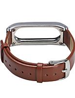 Недорогие -для проса браслет 2 из натуральной кожи и металлический каркас замена браслет для Xiaomi miband 2 браслета