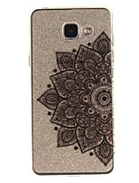 cheap -For Samsung Galaxy A5 A5(2016) A3 A3(2016) Case Cover Half Flower Pattern IMD Process Painted TPU Material Phone Case