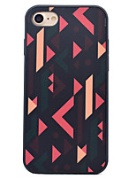 baratos -Para iPhone 8 iPhone 8 Plus iPhone 7 iPhone 7 Plus iPhone 6 Case Tampa Antichoque Estampada Capa Traseira Capinha Estampa Geométrica