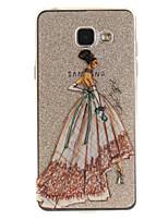 abordables -Funda Para Samsung Galaxy A5(2016) A3(2016) IMD Transparente Diseños Cubierta Trasera Chica Sexy Suave TPU para A5(2016) A3(2016) A5 A3