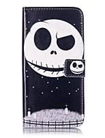 Недорогие -Для Бумажник для карт Кошелек со стендом Флип Кейс для Чехол Кейс для Череп Твердый Искусственная кожа для AppleiPhone 7 Plus iPhone 7