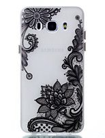 cheap -For Case Cover Glow in the Dark Pattern Back Cover Case Flower Soft TPU for Samsung Galaxy J5 (2016) J3 J3 (2016)