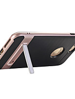 cheap -For iPhone X iPhone 8 iPhone 7 iPhone 7 Plus iPhone 6 Case Cover with Stand Back Cover Case Solid Color Hard PC for Apple iPhone X iPhone