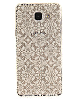 cheap -For Samsung Galaxy A5 A5(2016) A3 A3(2016) Case Cover White Lace Flower Pattern IMD Process Painted TPU Material Phone Case