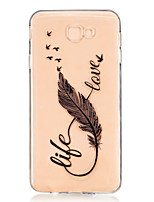 cheap -For Samsung Galaxy J7 Prime J5 Prime J710 J510 J5  J310 J3  TPU Material 8 Word Feathers Pattern Painting Phone Case
